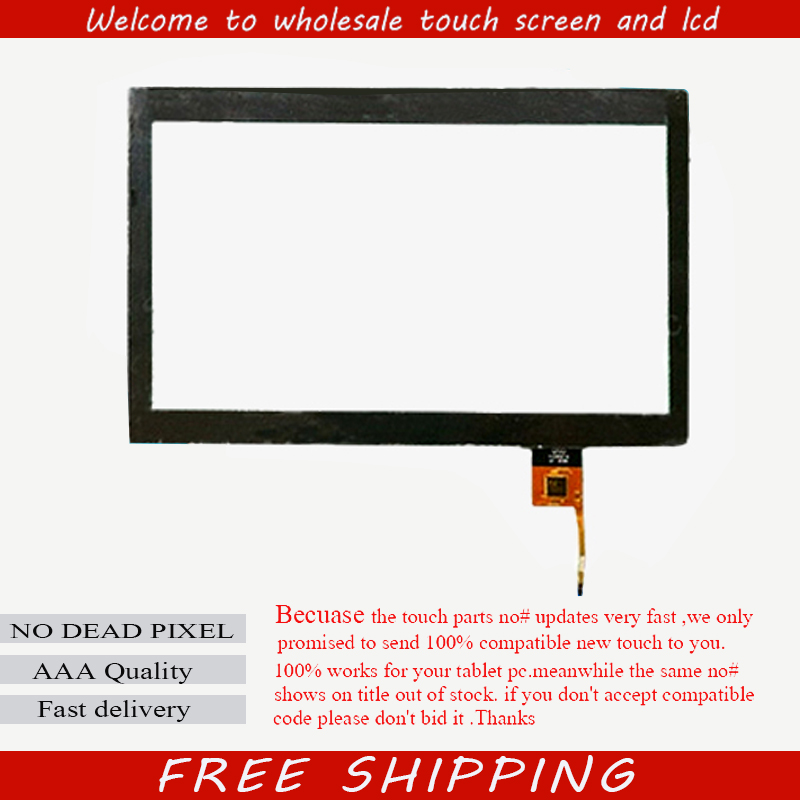 New For 10.1 inch Denver TAD-10023 Tablet Capacitive touch screen Touch panel Digitizer Glass Sensor Free Shipping new capacitive touch screen for 10 1 inch 4good t101i tablet touch panel digitizer glass sensor replacement free shipping