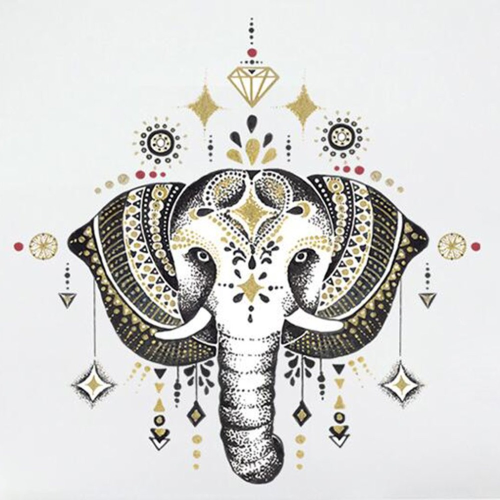 design of atmospheric living room tv background wall   Modern Design Nordic Style Elephant Wall Sticker DIY ...
