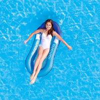 Outdoor Floating Water Hammock Beach Lounger Backrest Recliner Floating Sleeping Bed Chair Cushion Inflatable Bed Floating Row