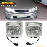 For 96 98 Honda Civic EK JDM Clear Lens Fog Lights 1996 1997 1998 USA Domestic Free Shipping Hot Selling