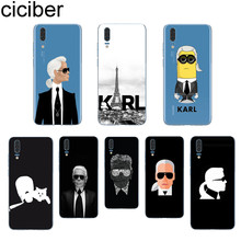 ciciber Karl Lagerfeld For Huawei P20 P10 P9 P8 Pro Plus Lite 2017 P smart 2019 Soft TPU Silicone Clear Phone Cases Fundas Capa