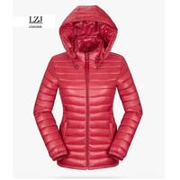 LZJ Solid Color Zipper Hooded Women Spring Jacket 2017 New Fashion Autumn Winter Slim Warm Ladies