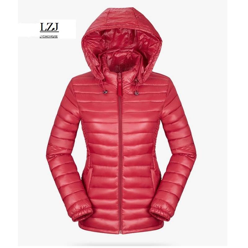 LZJ Solid Color Zipper Hooded Women Spring Jacket 2017 New Fashion Autumn Winter Slim Warm Ladies Coats Plus Size Outerwear XXXL