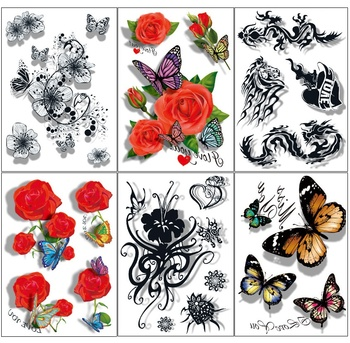 Wholesale Excellent 3D Ultra-high Definition Temporary Tatuajes SD serial Disposable Body Tattoo Sticker Scar Post Tattoo 500pcs