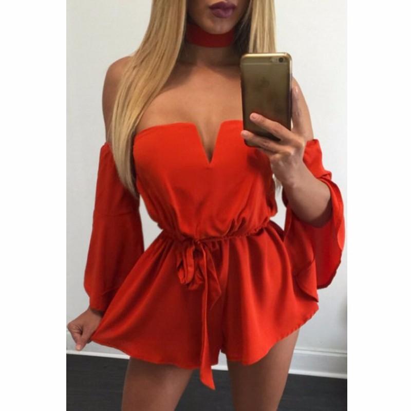 Orange-Sexy-Off-Shoulder-Belted-Romper-LC64209-14-3_conew1