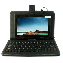 YUNTAB negro 7 pulgadas Q88 Tablet PC Quad Core 1.5 GHz 512 MB + 8 GB con Doble Cámara Android4.4 Tablet (añadir teclado negro)