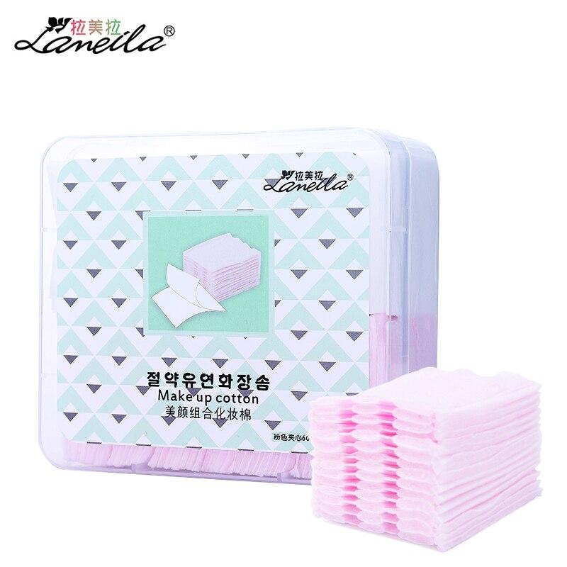 LAMEILA 460pcs makeup cotton pads cotton wipes for face facial tissue remover wipes nail napkin makeup organic pad cosmetic puff muji japan 4 layers facial cotton pad 60 sheets x 2 box