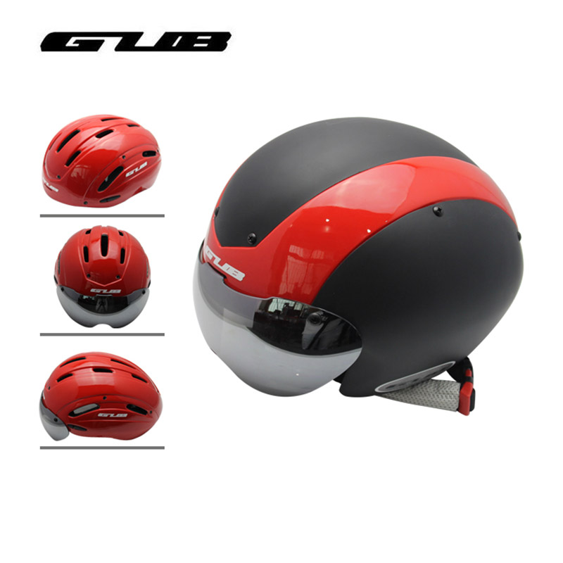 GUB 4 Colors Bicycle Helmet Black Ultralight In-mold Cycling Helmet With Visor Breathable Road Mountain MTB Outdoor Bike Helmet цены