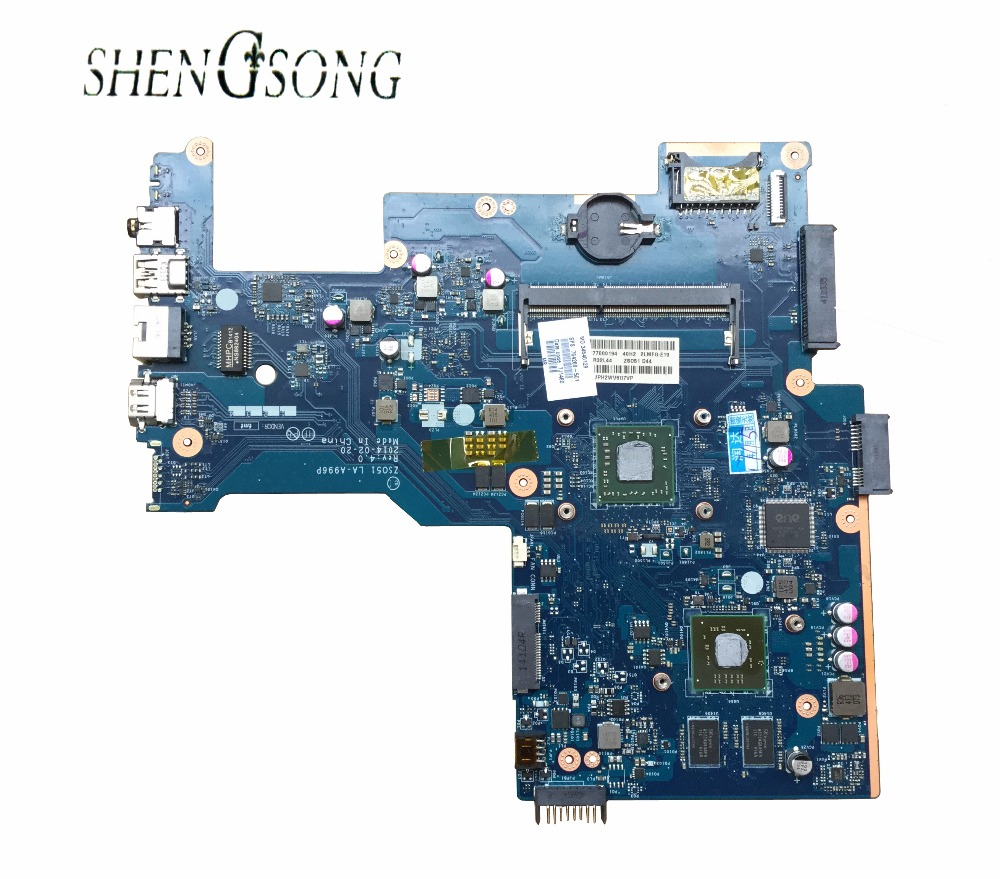 764269-501 764269-001 Free Shipping For HP 15-G Laptop Motherboard ZS051 LA-A996P REV.40 mainboard 100% Tested nokotion zs051 la a996p rev 1 0 764262 501 764262 001 motherboard for hp 15 g series laptop main board ddr3