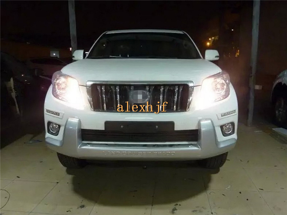 July King LED Front Bumper Daytime Running Lights DRL Case for Toyota Land Cruiser Prado, White / Pearl White / Army Green Frame july king led daytime running lights drl case for honda crv cr v 2015 2016 led front bumper drl 1 1 replacement