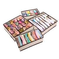Складной не-трикотажный склад набор коробок галстуки бюстгальтер носки для девочек рисовать Делитель Контейнер нижнее бельё