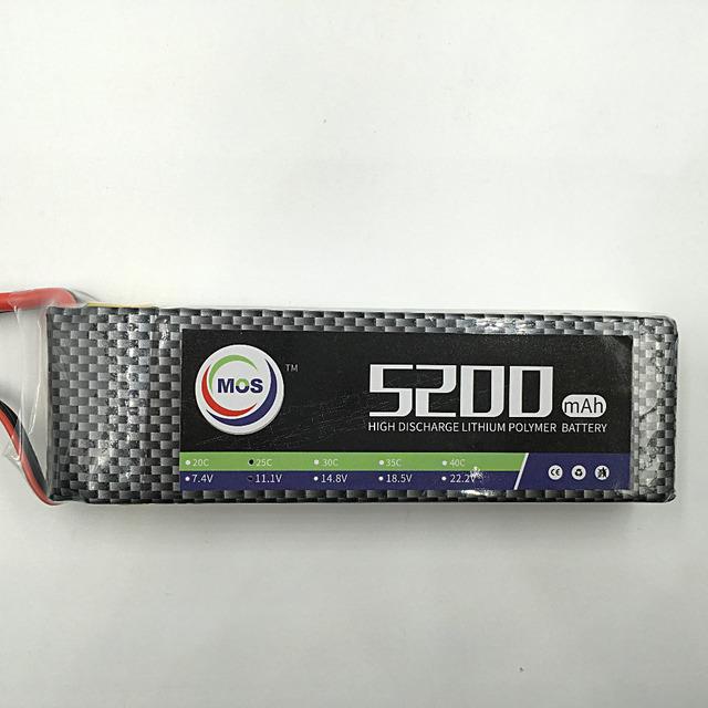 MOS 11.1 v 5200 mah 25c lipo bateria para rc avião frete grátis