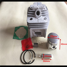 44MM 52CC BC520 CG520 Brush Cutter Cylinder Piston Kit w/ Manifold Cylinder Gasket and Needle Bearing for TL52 Grass Trimmer