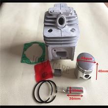 44mm 52cc bc520 g520 cortador de escova, conjunto de pistão cilindro w/colector cilindro junta e rolamento da agulha para tl52 aparador de grama