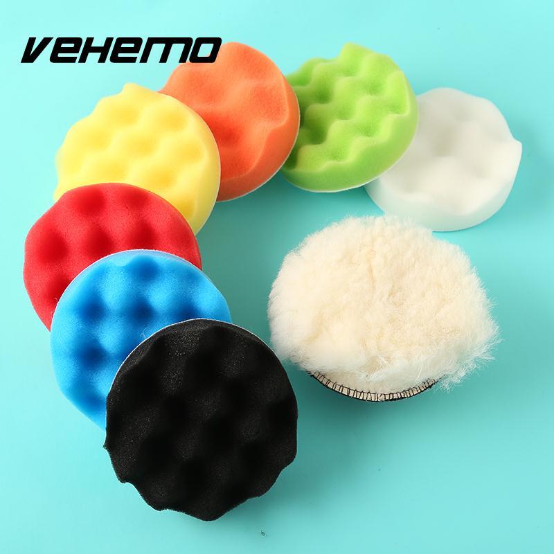 Vehemo Sponge Buffer Car Waxing Elastic Polishing Removes Scratches