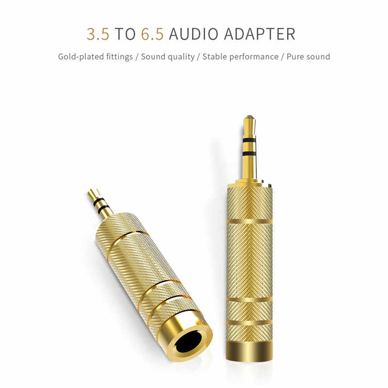 Robortsky Headset 3.5 to 6.5 Converter 3.5mm Male  to 6.5mm Female Jack Plug Microphone MIC Audio Adapter For PC Phone Stereo