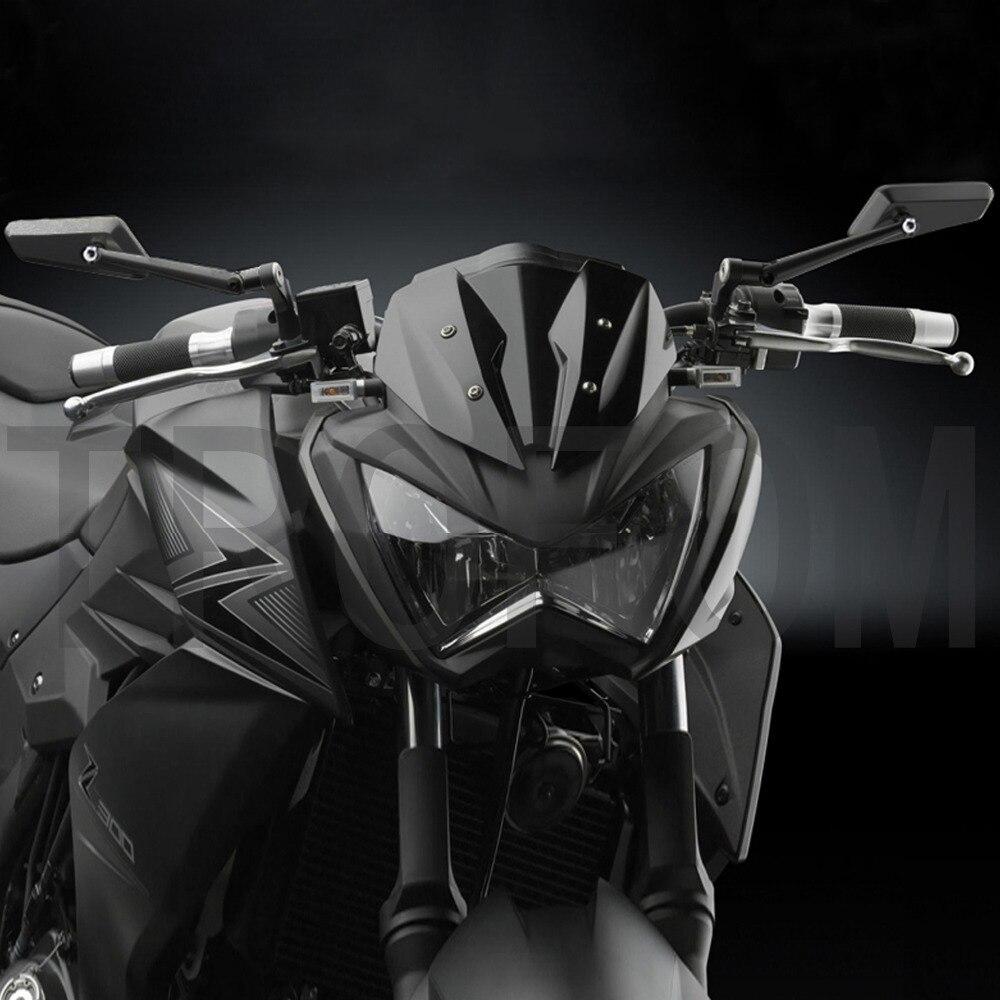 Nero Del Motociclo Specchio Laterale In Alluminio CNC Retrovisore Per CIRCUITO HONDA Cb1000r shadow Suzuki Bandit Yamaha XJ6 Kawasaki ninja KTM