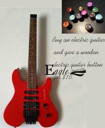 Orzeł. Motyl  gitara elektryczna  basowy custom shop  24 czerwona gitara elektryczna  metalowa skała  bezgłowy gitara Steinberg  w magazynie