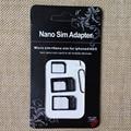 3 in1 Nano СИМ Микро СИМ-Карты Micro SIM для Стандартной Карты нано SIM в Стандартный Адаптер для iPhone 6 5 iPhone4 4S Samsung