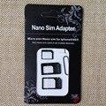 3 in1 Nano SIM to Micro SIM Card Micro SIM to Standard Card Nano SIM to Standard Card Adapter for iPhone 6 5 iPhone4 4S Samsung