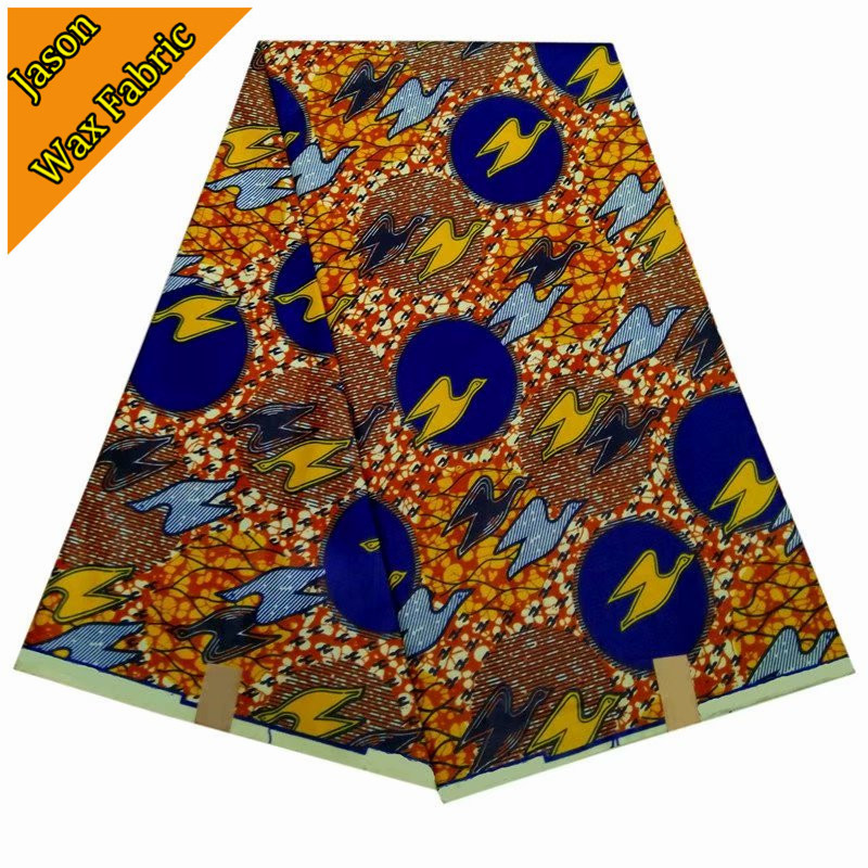 guaranteed real wax cloth 100% Polyester African new design super wax prints fabric 6yards/lot for dress LBL