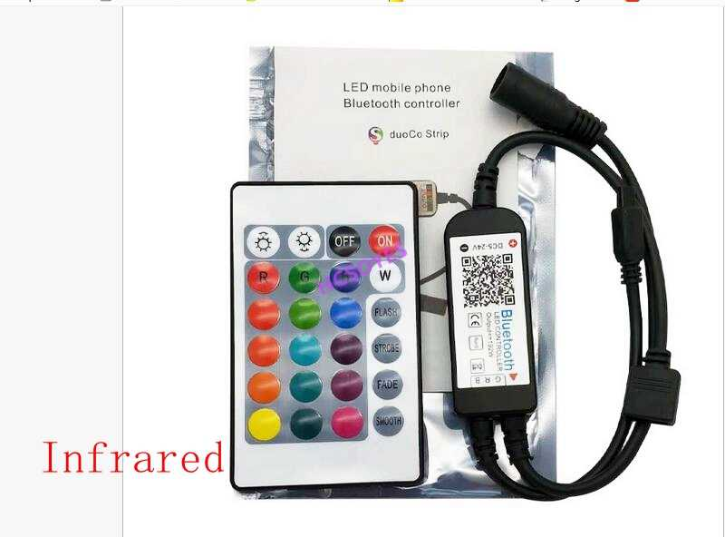 24key ir rf Bluetooth/na podczerwień/RGBW/USB/RGB bezprzewodowy pilot kolorowe rgb LED kontroler taśmy komórkowy aplikacja TV tle ściany światło