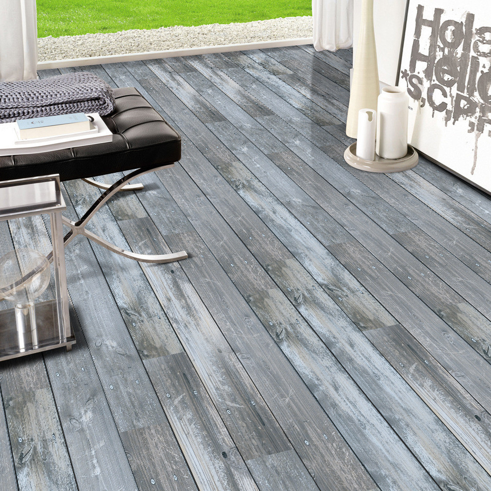 0.2x5m Waterproof PVC Wood Stone Pattern Floor Tiles Stickers Wall ...