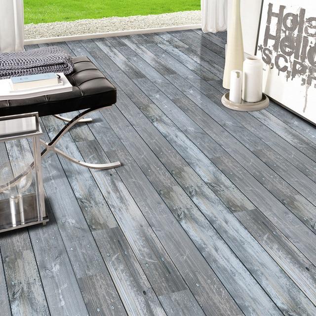 0 2x5m Waterproof Pvc Wood Stone Pattern Floor Tiles Stickers Wall Sticker Kitchen Waist Line Adhesive