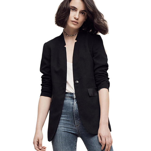 76f33b8d8ed3 Casual Black Suit Blouse Jackets Blazer Women 2017 New Spring Female Office  Elegant For Ladies Suits