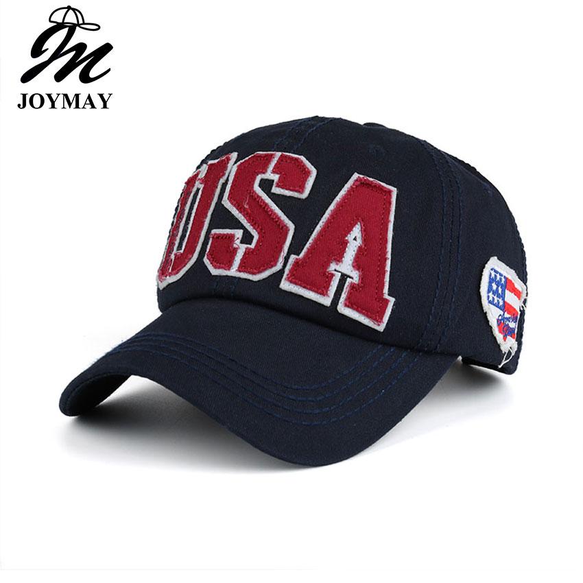 Prix pour Joymay 2017 Printemps Nouveau Unisexe USA Broderie casquette de baseball Réglable De Mode Loisirs Casual Snapback HAT B419