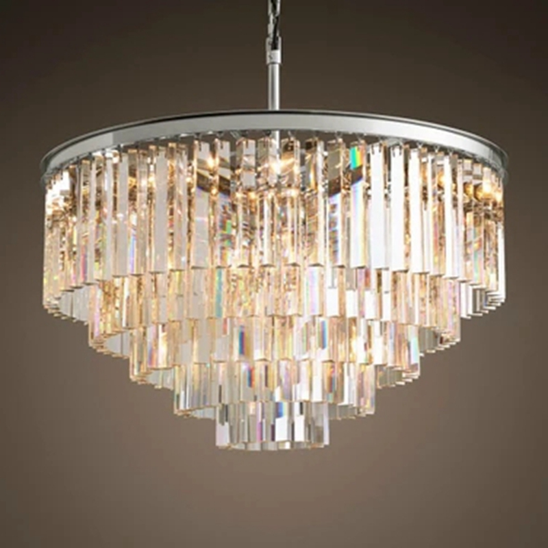 LukLoy American Round Luxury Crystal Chandelier LED Nordic Living room Restaurant Personality Modern Hotel Creative Chandelier chandelier dome fashion fabric chandelier creative engineering lamps living room hotel club restaurant free shipping
