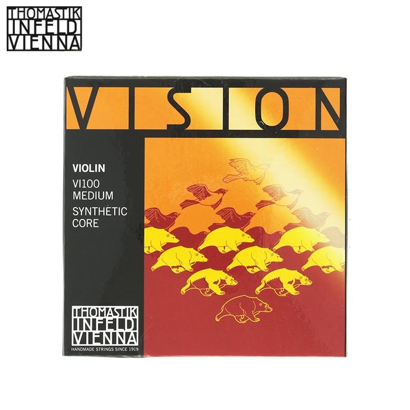 Thomastik Infeld VI100 Vision Violin Strings Complete Set 4 4 Size