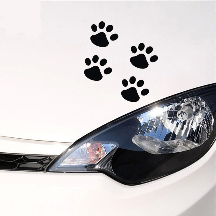 Car Stickers Personalized Funny Stickers Cat Paw Prints Dog Claws - Custom car decals india   how to personalize