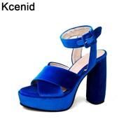 2017 New Velvet Designer Shoes Woman Sandal High Heel Elegant Pumps Sexy Peep Toe Ankle Strap