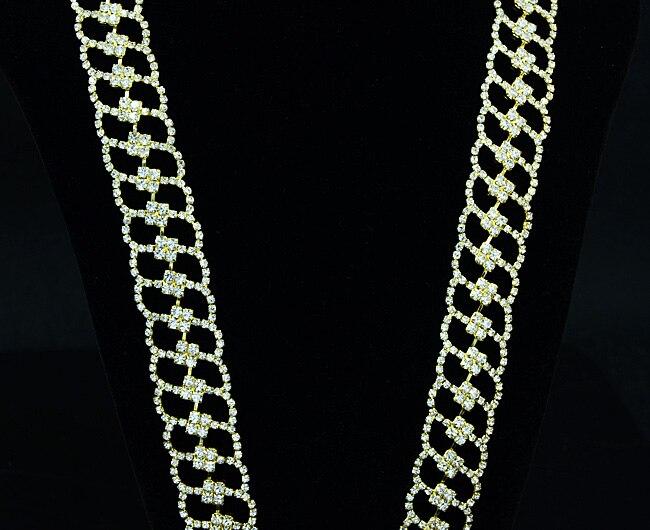10 mètres chaîne de couture en cristal 2.3 cm garnitures en strass pour bricolage artisanat accessoires de vêtement