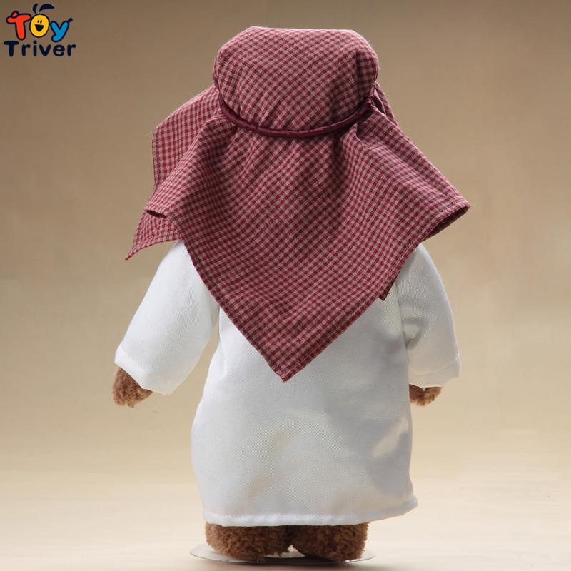 Top qualité à la main arabes ours en peluche Camel en peluche peluche poupée désert ours poupée cadeau d'anniversaire maison boutique décor - 4