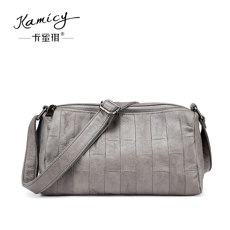 c86fc604eb47 Kamicy 2018 new fashion accessories bag leisure and simple soft head layer leather  ladies single shoulder bag