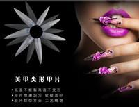 Новый 500 Шт. Длинные Sharp Ложные Nail Art Советы Акриловые Салон-Натуральный Белый Ясно, Выбрать