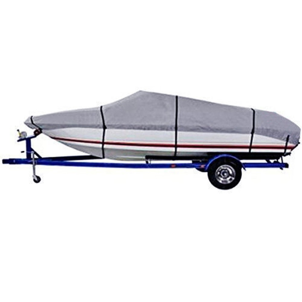 Universal Durable 210D Oxford Waterproof Dustproof Heavy Duty Fabric Trailerable Pontoon Boat Cover Tool Ship Accessories