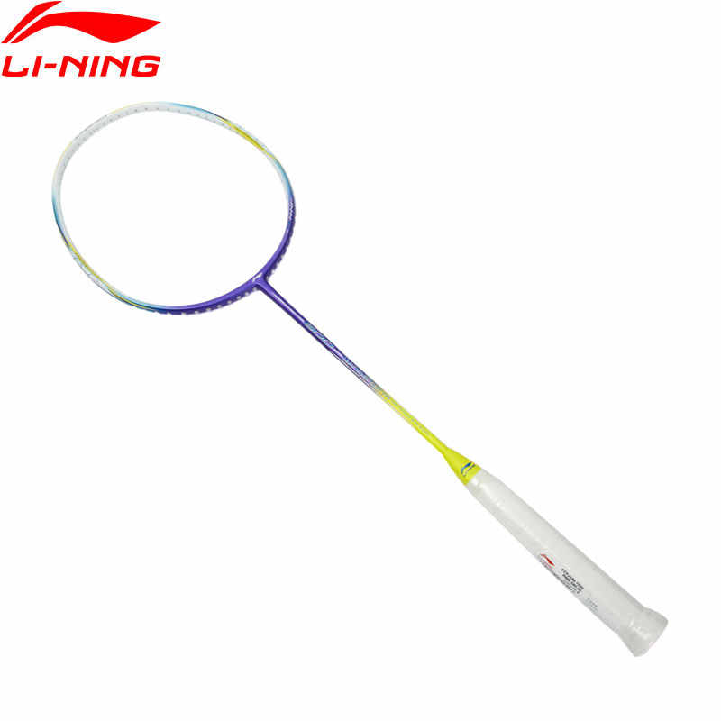 Li-Ning WINDSTORM 600 Badminton Rackets Single Racket Superlight Carbon Fiber LiNing Rackets AYPJ186