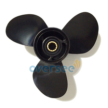 OVERSEE Aluminum Propeller 58100 94313 019 size 111 2x13 For Suzuki 40HP Marine Outboard Engine 11
