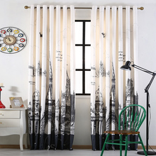 3D printed city building curtains for living modern blackout curtains for bedroom boys room window treatments  home textile B-41