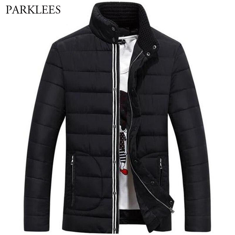 Winter Jacket Men 2019 Fashion Stand Collar Mens   Parka   Jacket Thick Warm Jackets and Coats Man Winter   Parkas   Jaqueta Masculina