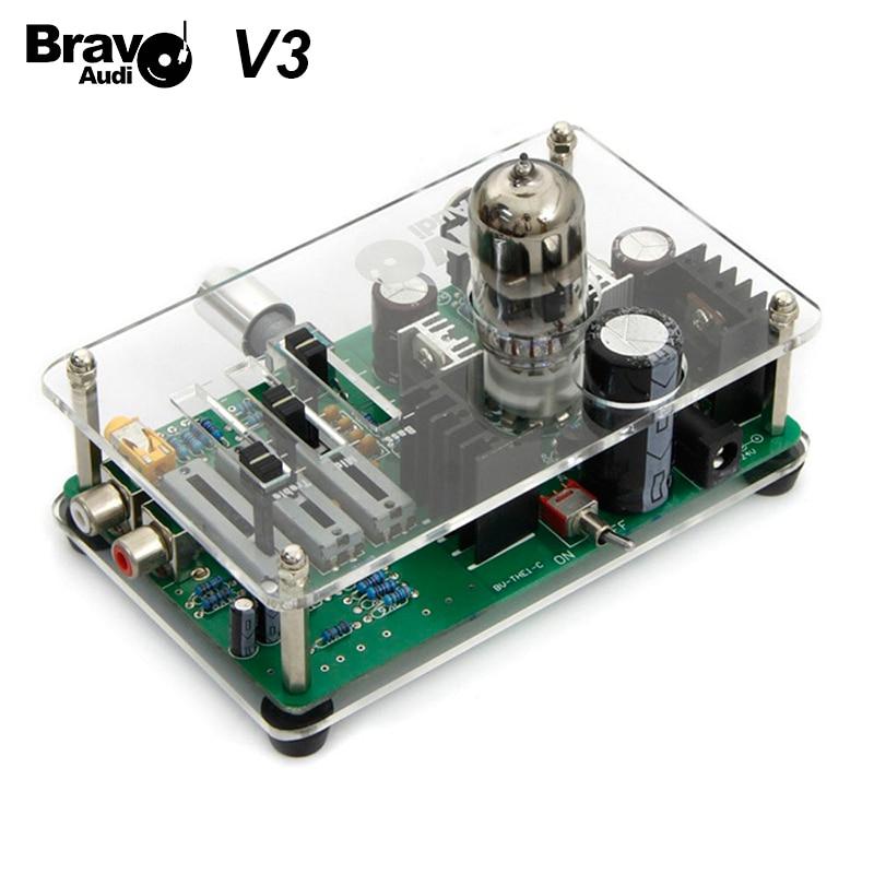 Bravo v3 headphone tube amplifier - Bravo Audio V3 EQ Equalizer tube headphone amplifier