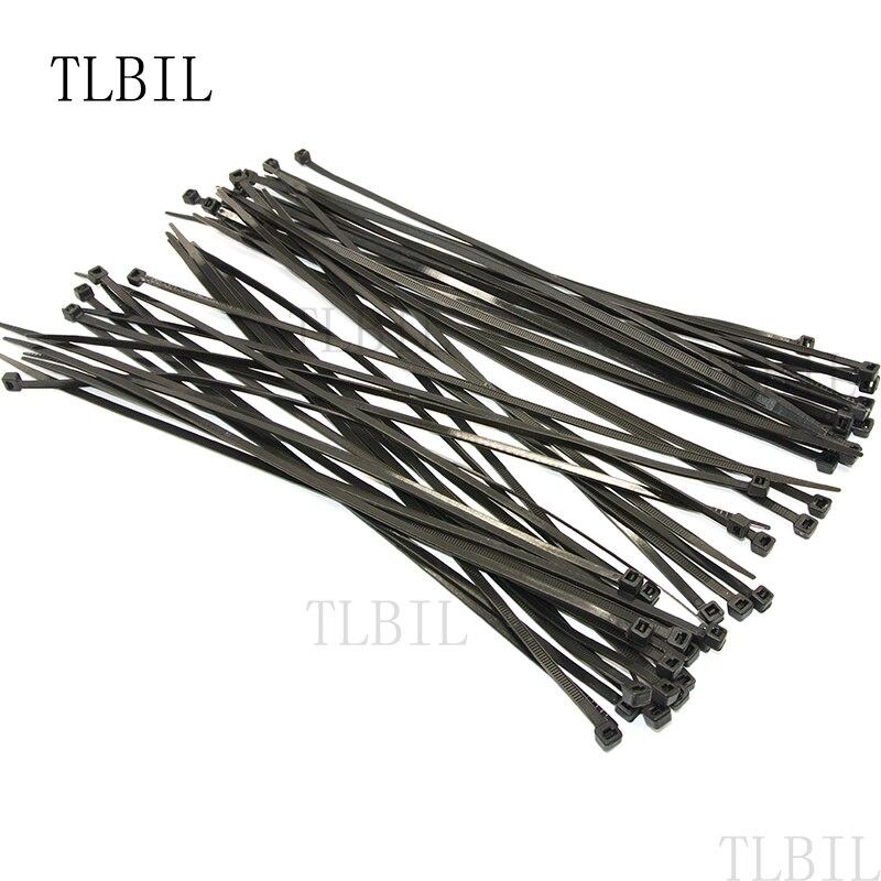 """1000 X pcs Black 6/"""" Tie Cord Strap 150mm Network Nylon Plastic Cable Wire Zip"""