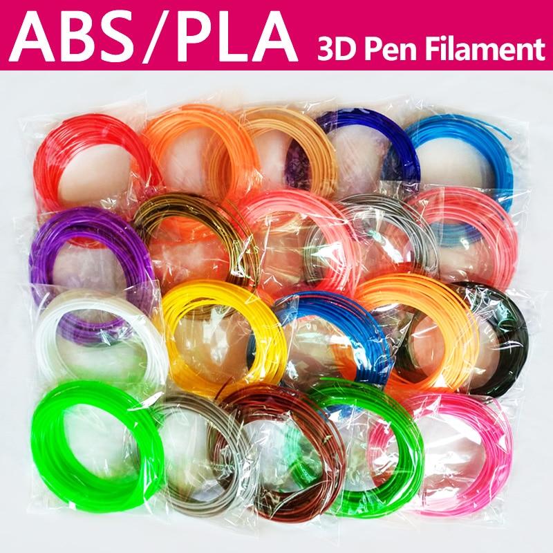 No Pollution Pla/abs 1.75mm 20 Colors 3d Pen Filament Pla 1.75mm Pla Filament Abs Filament Abs Plastic Pla Plastic Rainbow Wire