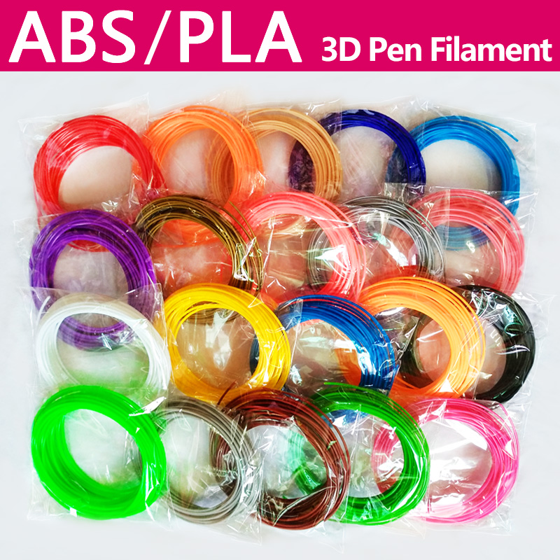 אין זיהום PLA / ABS 1.75mm 20 צבעים 3D נימה עט PLA 1.75mm fila filament ABS חוט נימה ABS פלסטיק פלטה קשת פלסטיק