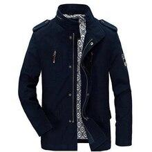 Для мужчин куртка высокого качества 100% хлопок бренд Busines повседневная куртка Для мужчин 2017 г., весна-осень Новый Для мужчин S куртки и пальто брендовая одежда