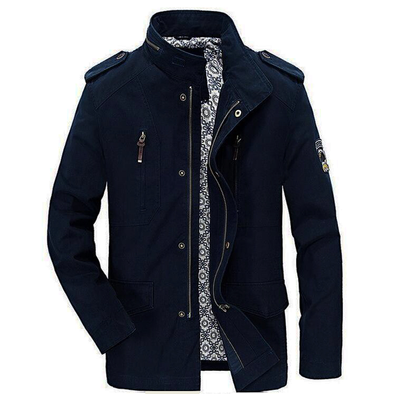 Men jacket high quality 100% cotton brand busines casual jacket men 2018 spring autumn new mens jackets and coats brand clothing new 2016 spring winter jacket men brand high quality down cotton men clothes fashion warm mens jackets coats black plus size 4xl