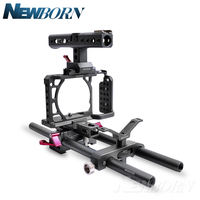 WARAXE A6 Camera Cage Rig Kit for Sony A6000 A6300 A6500 ILCE 6000 / ILCE 6300 / ILCE A6500 with NATO Rail Handle Grip